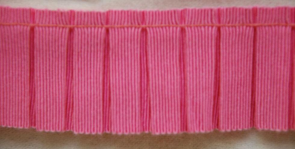 Hot Pink Grosgrain Pleated Trim