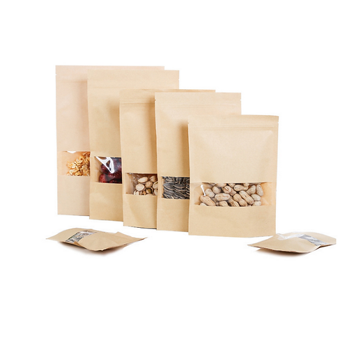 Eco Friendly Paper Stand Up Pouches