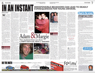 ADAM & MARGIE: Two students' lives cut short by empty bottles, revv of engines