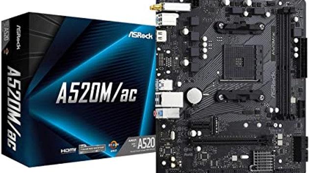 BOARD ASROCK A520MAC/AC AMD SOCKET AM4