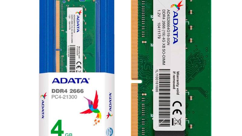 MEMORIA RAM DDR4 2666 4GB PORTATIL