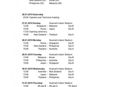 Women's World Floorball Championship 2019 Qualification: AOFC