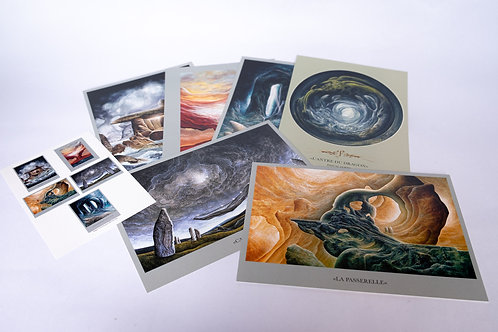 "Pascal ferry ""L'antre du dragon"" Lot de 6 cartes"