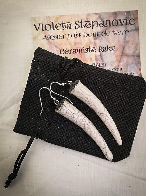 Boucles d'Oreilles - Crocs Céramique
