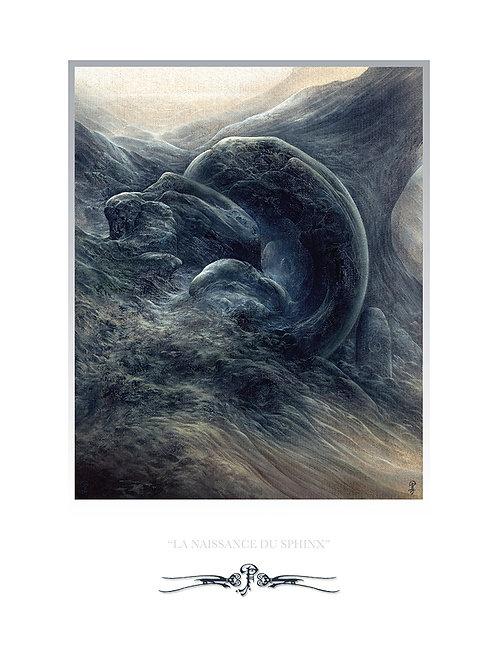 """Pascal Ferry """"la naissance du sphinx"""" Tirage Numérique"""