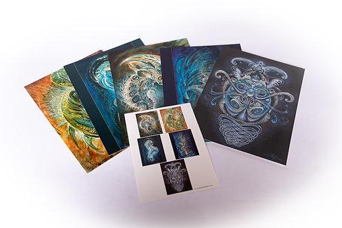 """Martina Hoffmann """"Inner Landscape"""" lot de 5 cartes"""