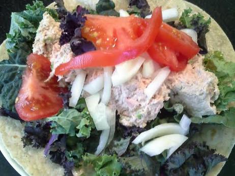 A Tuna Wrap with Lots of Veggies!