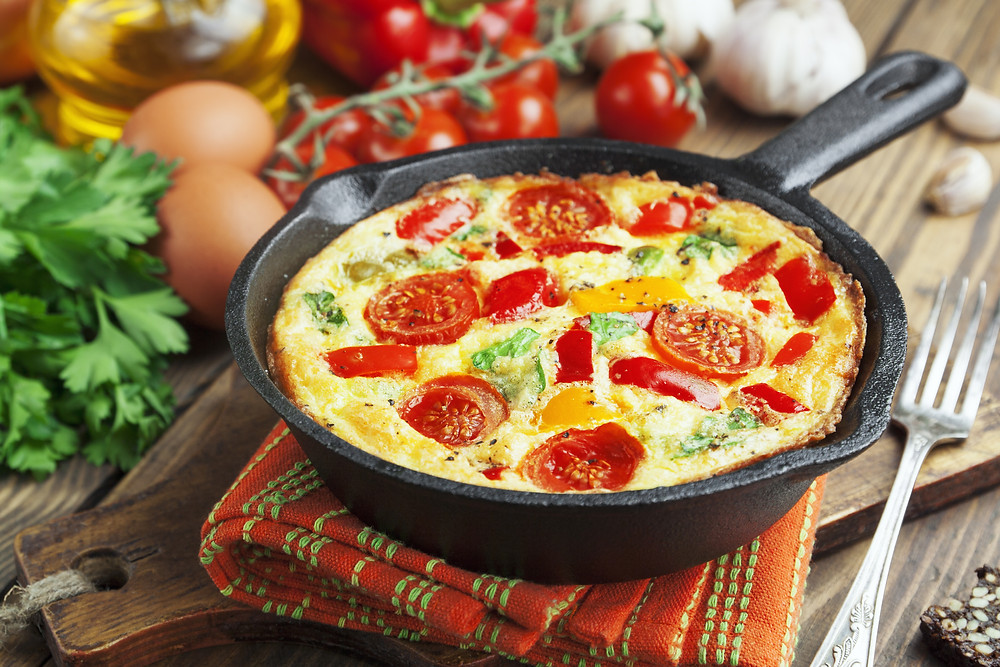 Omelet With Vegetables And Cheese. Frittata.jpg