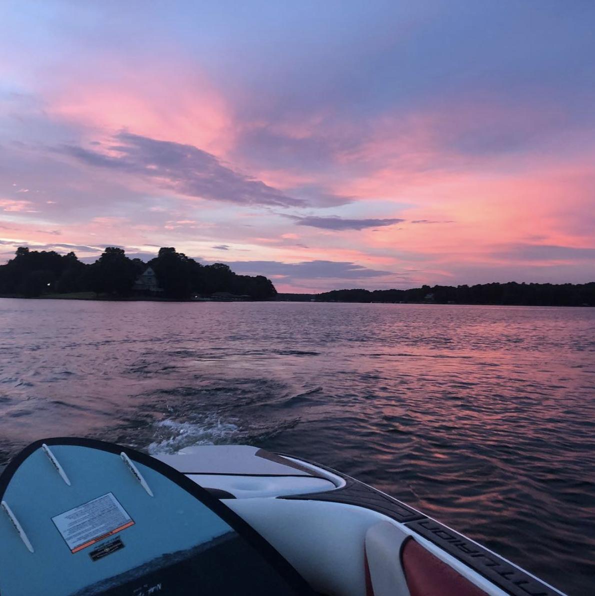 Sunset Surfing on Lake Norman