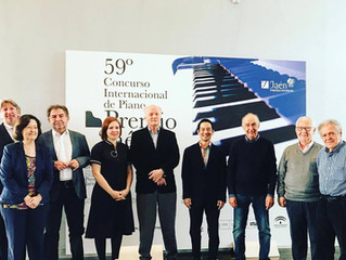 """Proud to be invited as a jury member at the prestigious 59th Jaén piano competiton """"Premio Jaén"""