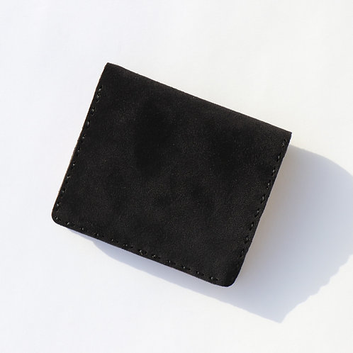【OJAGA DESIGN COLLABORATION】SHORT WALLET (BLACK SUEDE)