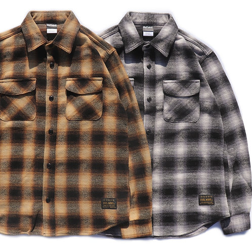 OMBRE PLAID FLANNEL SHIRT