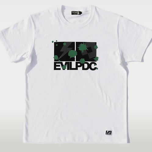 PDC DESIGN COLLABORATION EVILPDC S/S Tee【WHT×BK×GRN】