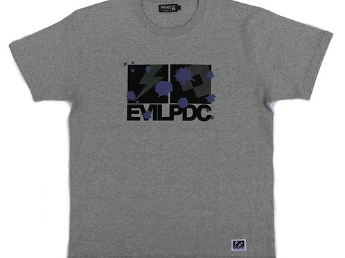 PDC DESIGN COLLABORATION EVILPDC S/S Tee【GRY×BK×PPL】