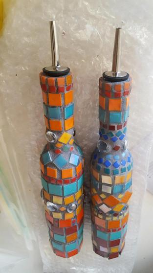 Mosaic Oil and Vinegar Set