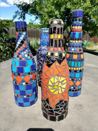 Mosaic Wine Bottles