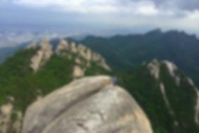 Hiking Bukhansan Mountain. Just outside of Seoul, South Korea.