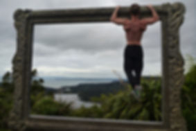 Ryan Faino | Doing pull-ups in the Waitakere Regional Park in New Zealand.