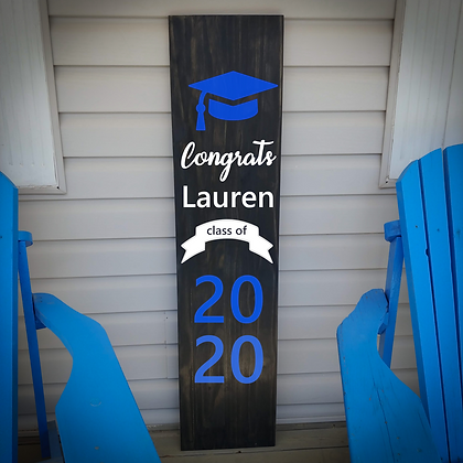 """GRAD 2020  "" Large Porch Sign 11x48"