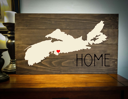 "Rustic sign - ""NS Map Home"" 14x24    fully finished"