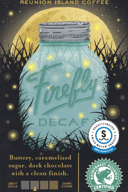 Reunion Island Firefly Decaf 12oz whole bean