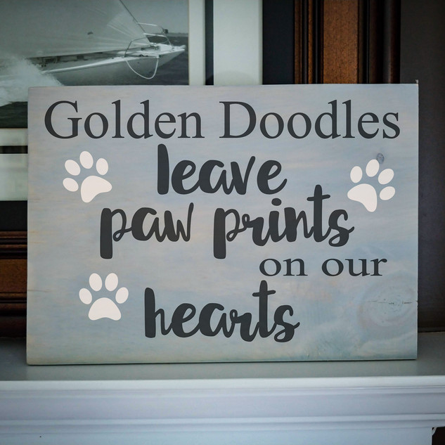"12x16 ""paw prints on your heart"" #1216-11"