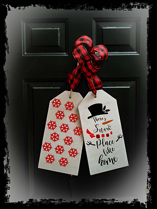 """Wooden project Door Tags """"Snow Place Like Home"""""""