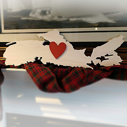 "3D sign - ""NS map cutout + heart"" 30"" long   fully finished"