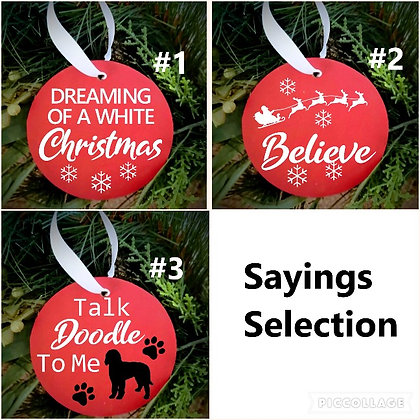 "Set of 4 DIY ornaments (4"" round) DIY TO GO ONLY"