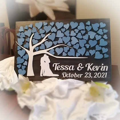 """3D SIGN - """"Wedding Tree Guest Book"""" -  15""""x24"""" fully finished"""