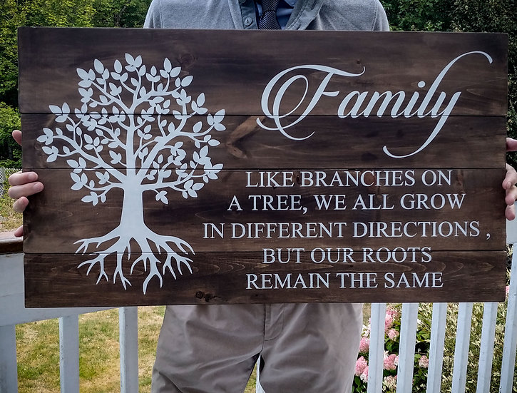 """Rustic sign - """"Family - tree"""" 18x32    fully finished"""