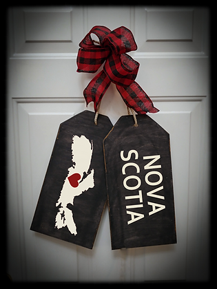 "Wooden project Door Tags ""NOVA SCOTIA / MAP"""