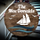 """Thumbnail: 3D sign - Surname - sailboat 23.5"""" round fully finished"""