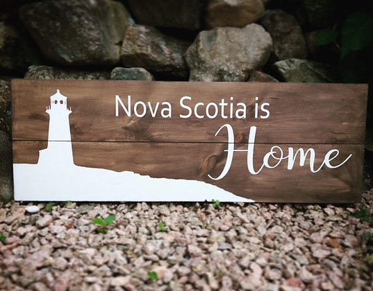 """Rustic Wooden Sign Project """"Peggy's Cove""""  11""""x 32"""""""