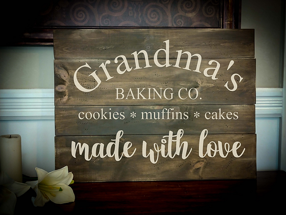"Rustic Wooden Sign Project ""Baking Co.""   18""x 24"""