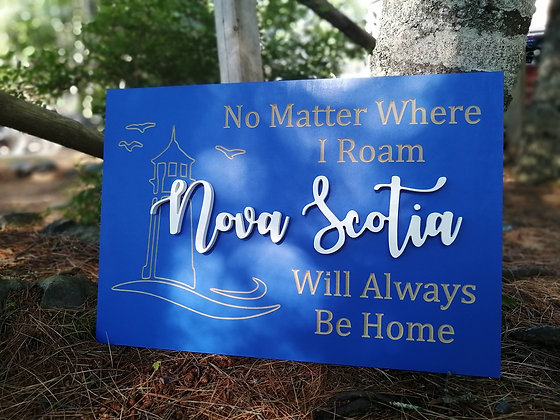 "PREMADE Carved / 3D sign - Nova Scotia -  16""x24""  MDF fully finished"