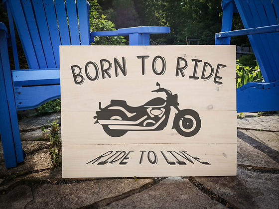 "Rustic Wooden Sign Project ""Motorcycle""  18""x 24"""