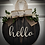 "Thumbnail: Round Wooden Sign ""Hello""  15"" round"