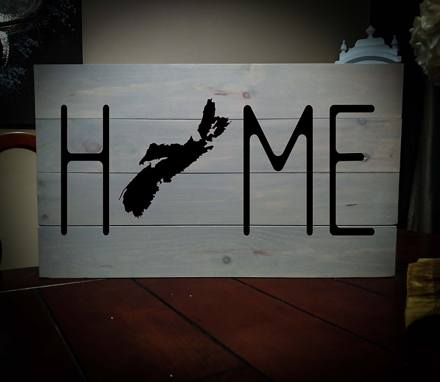 14x24 home rustic sign