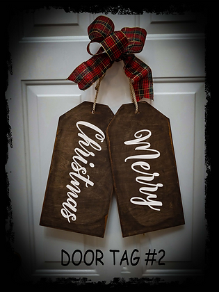 """Wooden project Door Tags """"Merry Christmas"""""""
