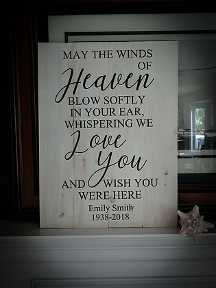 """Rustic Wooden Sign Project """"Winds of Heaven""""   18""""x24"""""""