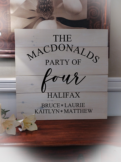 """Rustic Wooden Sign Project """"Party of..."""" 23""""x23"""""""