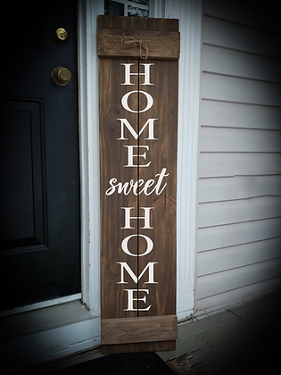 """Home sweet home"" Large Porch Sign 11""x48"""
