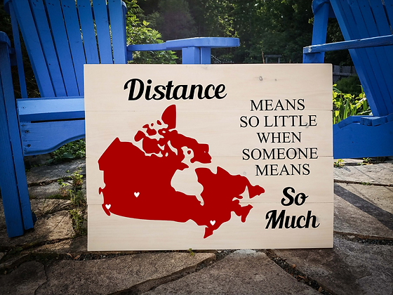 "Rustic Wooden Sign project ""Map / Distance""  18""x24"""