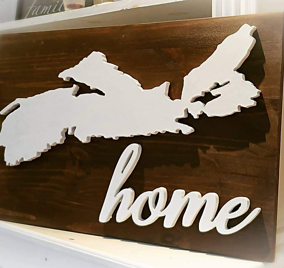 """3D sign - """"NS Map HOME"""" 15""""x24""""   fully finished"""