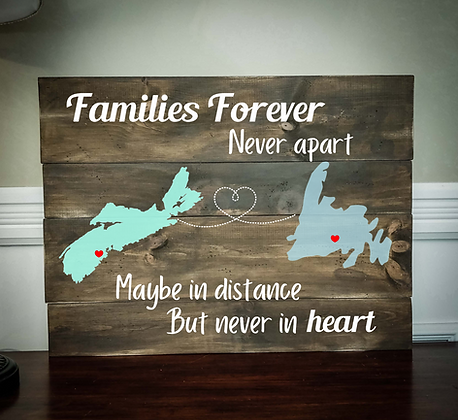 """Rustic Wooden Sign Project """"2 Maps / Family Forever""""  18""""x24"""""""