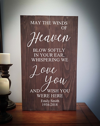 """Rustic Wooden Sign Project """"WInds of Heaven"""" 14""""x24"""""""