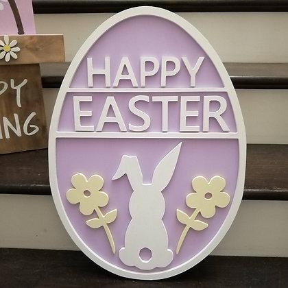 "3D Sign Project "" Happy Easter EGG"" 15x22""MDF  DIY"