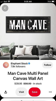 "CUSTOM wooden sign sign - 22""x36"" mancave stencil 4 weeks"