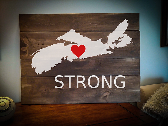 "Rustic Wooden Sign project ""Strong with Map""   18""x 24"""